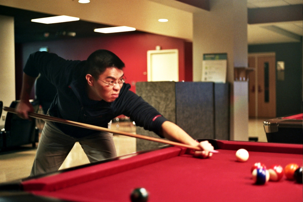 Playing pool/billiards at the University of Maryland