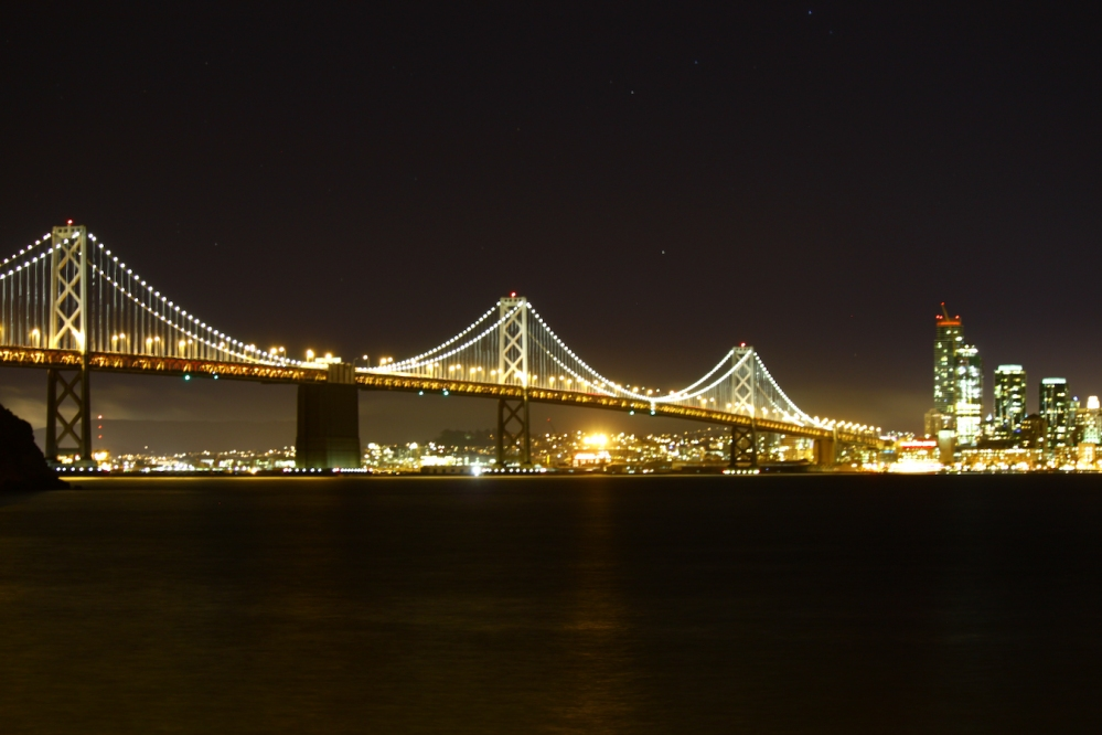 SF Night Cityline - Bay Bridge