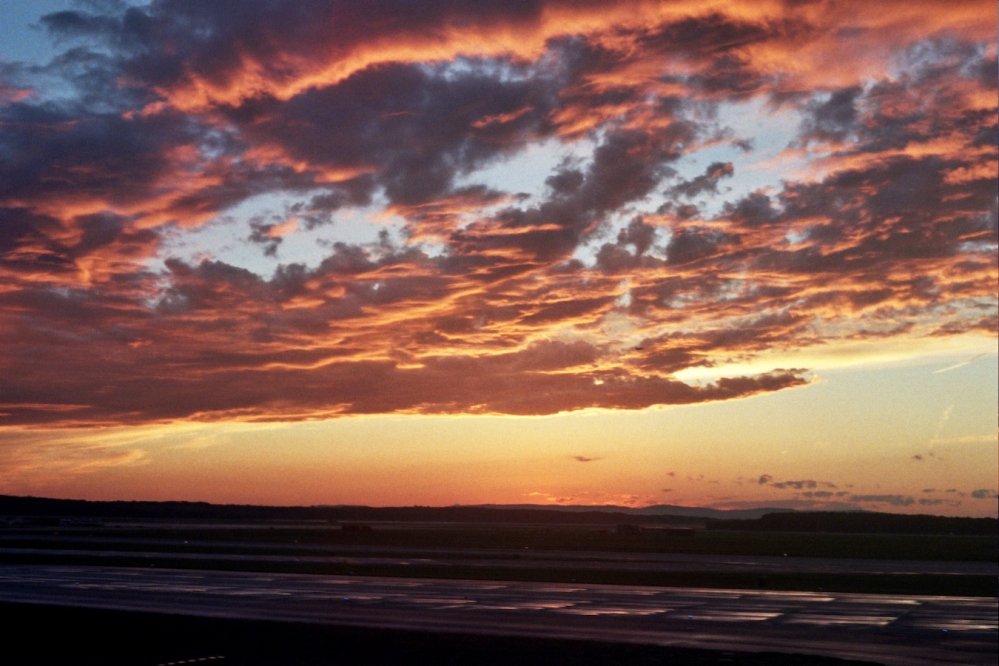 Sunset from the Tarmac