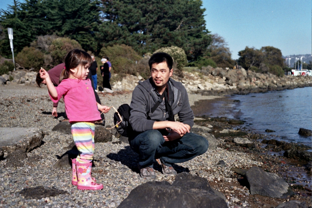 Chris and niece in the Berkeley Marina