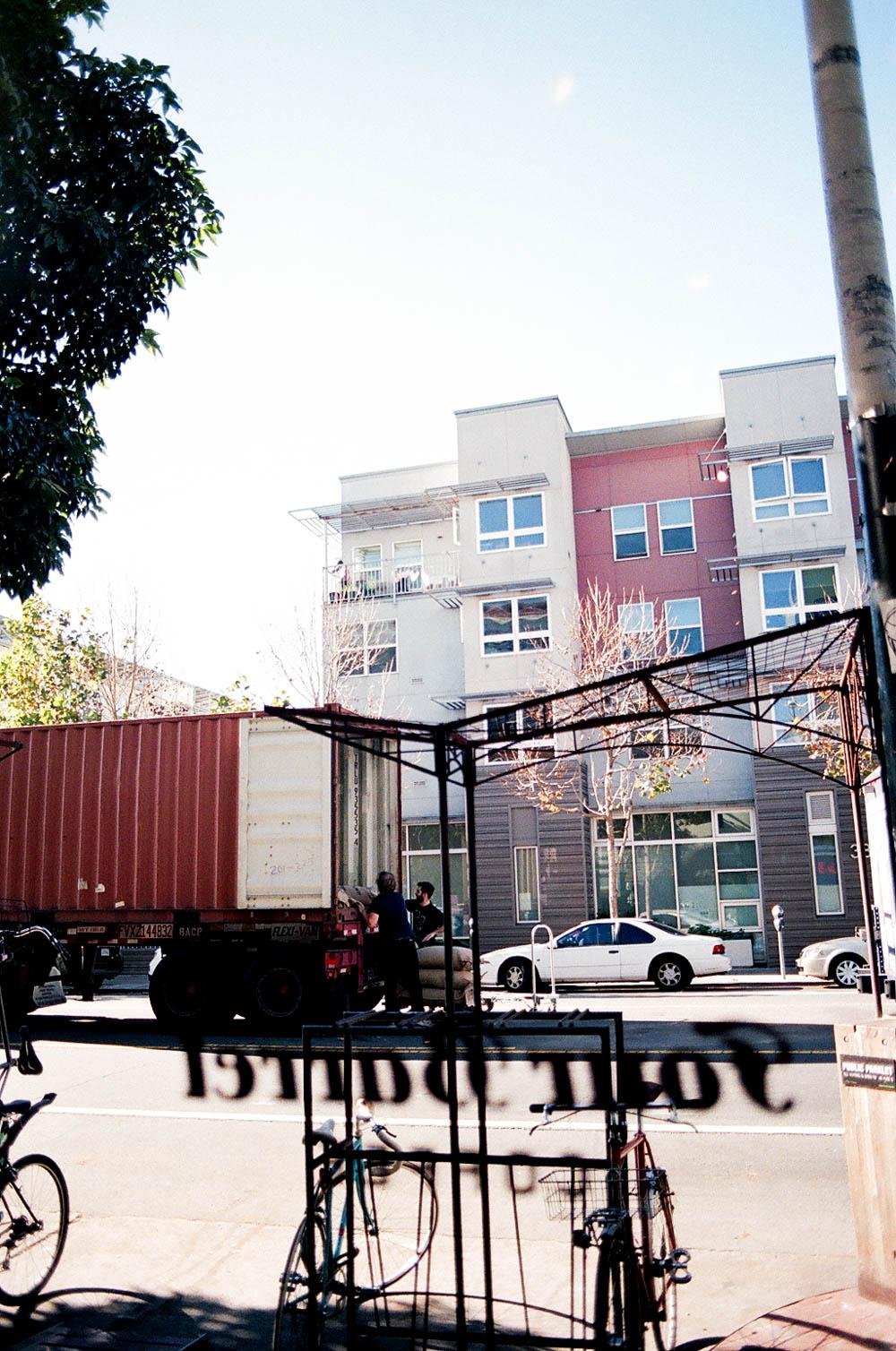 Four Barrel Unloading Coffee
